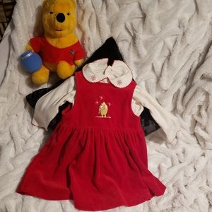 Disney Winnie The Pooh red dress w/top - Size 24 M